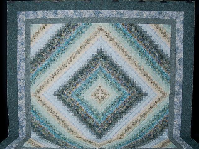 King Colorsplash Quilt Azure to Steel Blue Photo 2