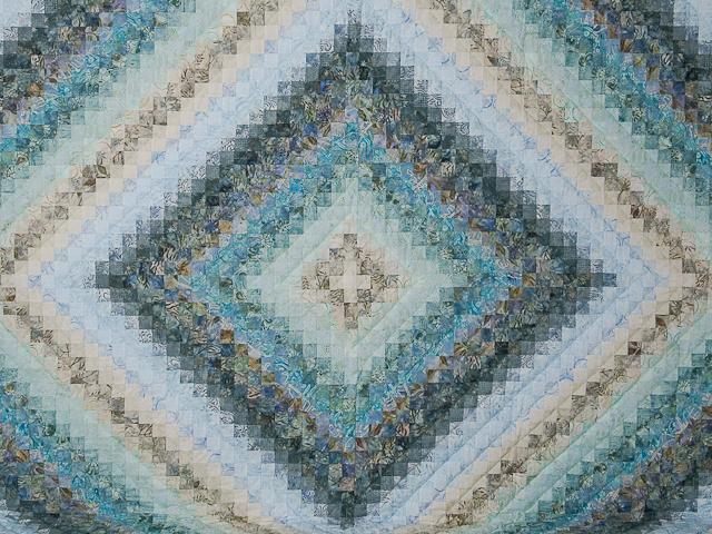 King Colorsplash Quilt Azure to Steel Blue Photo 3