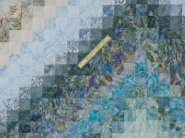 King Colorsplash Quilt Azure to Steel Blue Photo 6