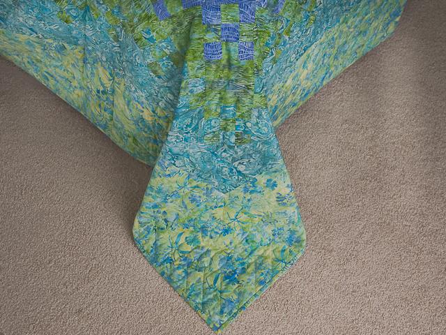 Batik Blooming Nine Patch Queen Size Quilt Photo 7