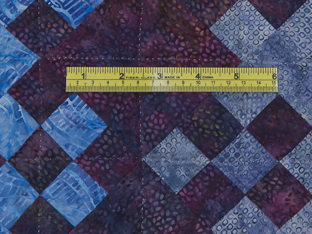 Batik Blooming Nine Patch Queen Size Quilt Photo 8