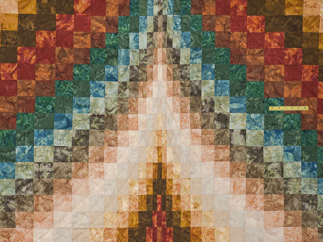 King size Hand Painted Diamond Bargello Quilt Photo 4