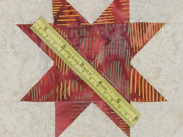 Queen Hand Painted Courthouse Log Cabin Stars Quilt Photo 8