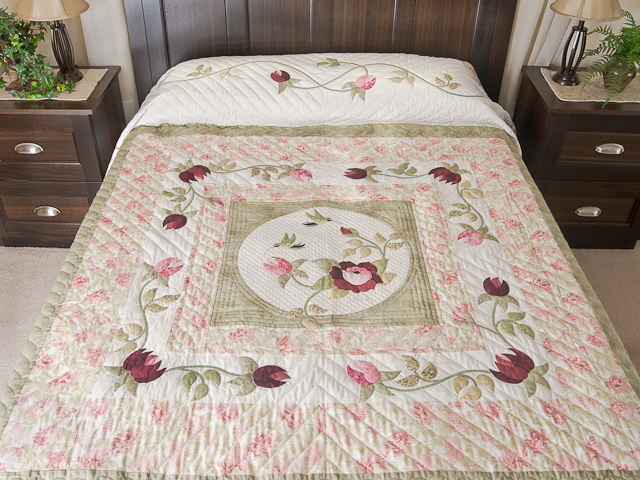 I Promised You a Rose Garden Quilt -- wonderful smartly made Amish ... : bed quilts queen - Adamdwight.com