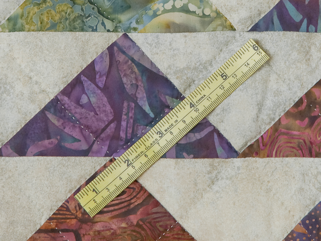 Hand Painted Rainbow Pyramid Quilt Queen Size Photo 8