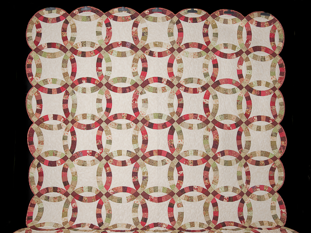 Double Wedding Ring Quilt Queen Bed Size Photo 2