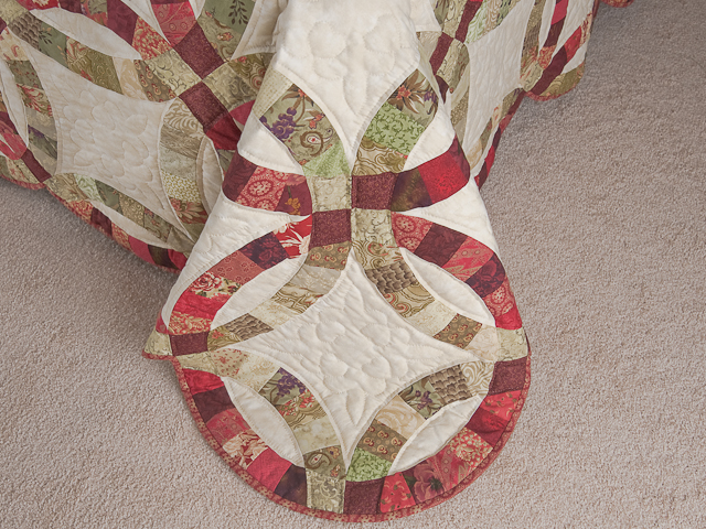 Double Wedding Ring Quilt Queen Bed Size Photo 7