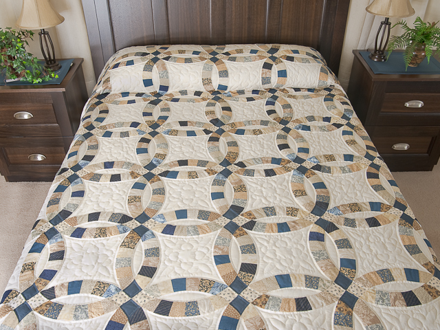 Double Wedding Ring Quilt King Size Photo 1