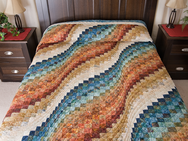Bargello Wave Quilt King Size Photo 1