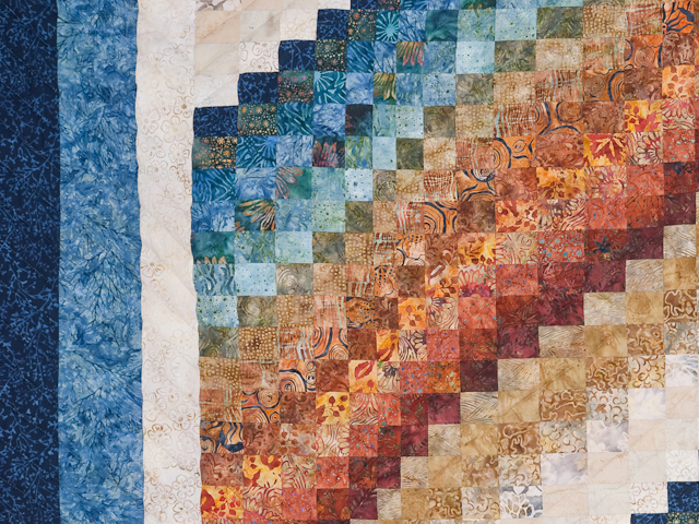 Bargello Wave Quilt King Size Photo 5