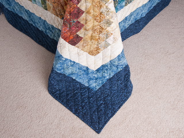 Bargello Wave Quilt King Size Photo 7