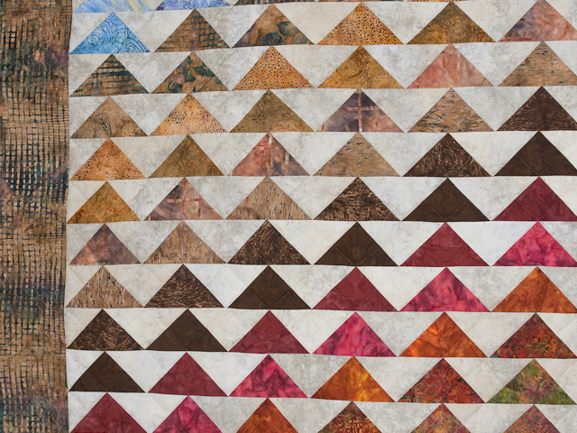 Hand Painted Rainbow Pyramid Quilt King Size Photo 5