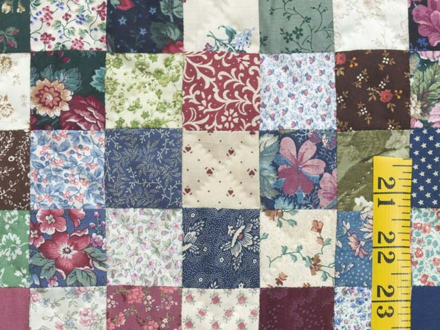 Navy Burgundy and Multicolor Hit or Miss Quilt Photo 5