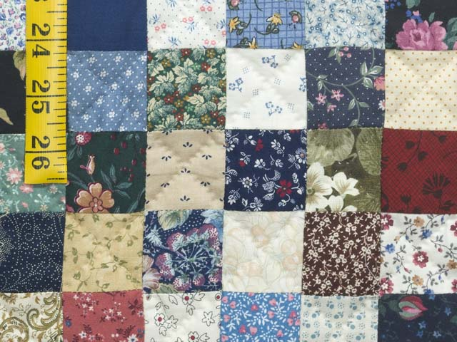 Navy Burgundy and Multicolor Hit or Miss Quilt Photo 6