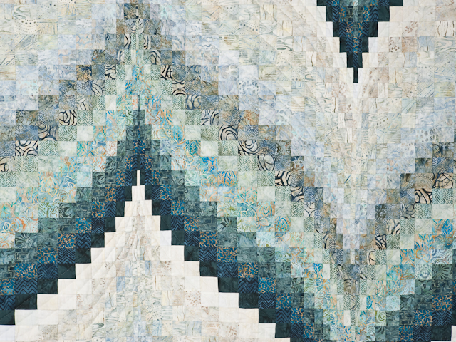 Bargello Flame Quilt King Size Photo 4