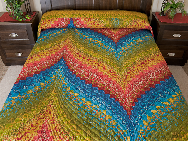 Bargello Flame Quilt Queen Size Photo 1