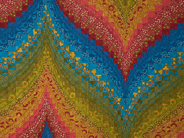 Bargello Flame Quilt Queen Size Photo 4