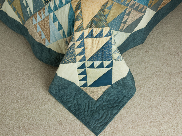 Blues and Tans Lady of the Lake Quilt