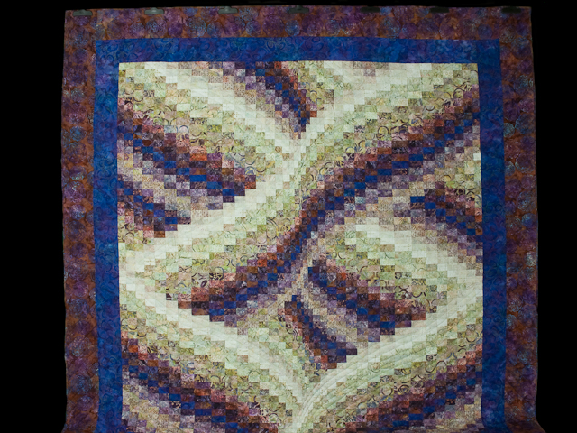 Twisted Bargello - Raspberry, vanilla twist