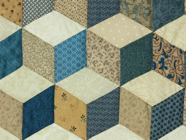 Blues, tans and creams