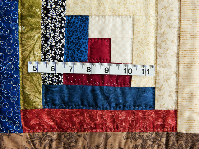 Multicolor Traditional Log Cabin Quilt Photo 6