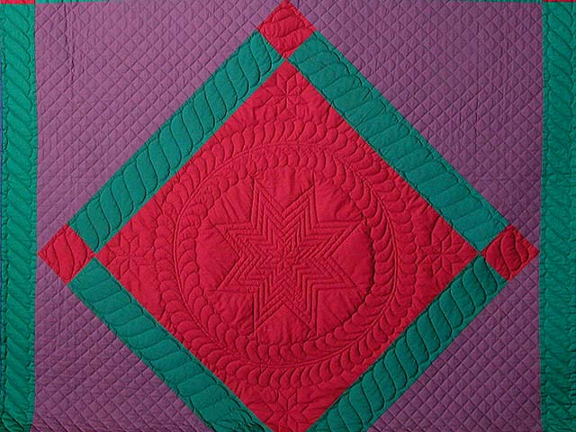 Amish Center Diamond Quilt Photo 3