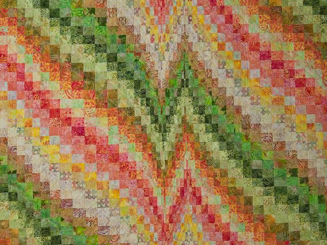 Bargello Heartbeat Queen Quilt Photo 3