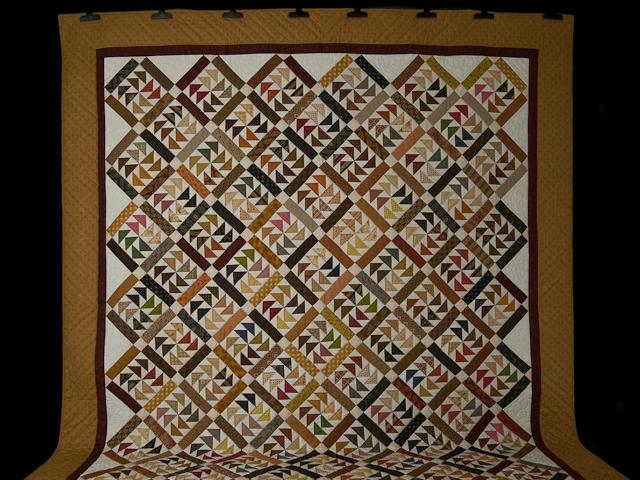 Dutchmans Puzzle Queen Size Bed Quilt Photo 2