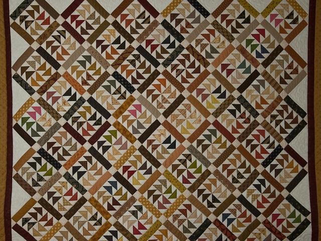 Dutchmans Puzzle Queen Size Bed Quilt Photo 3