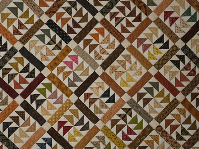 Dutchmans Puzzle Queen Size Bed Quilt Photo 4