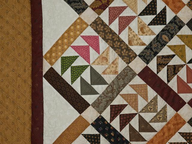 Dutchmans Puzzle Queen Size Bed Quilt Photo 5