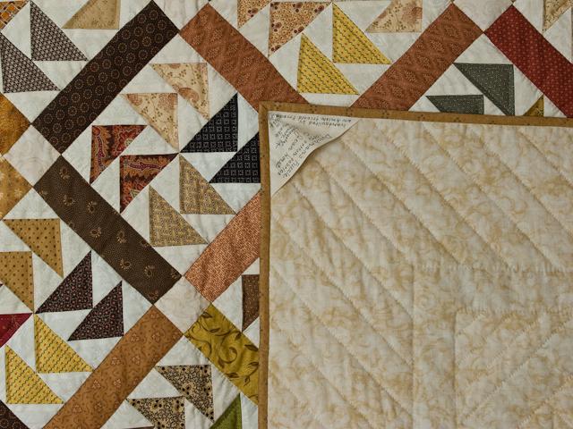Dutchmans Puzzle Queen Size Bed Quilt Photo 6