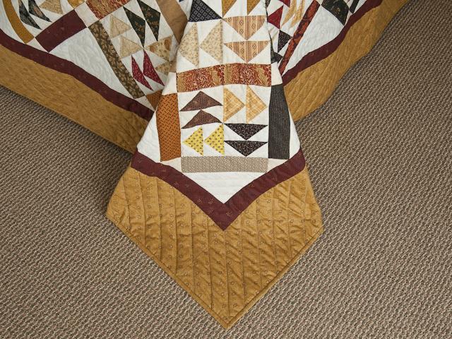Dutchmans Puzzle Queen Size Bed Quilt Photo 7