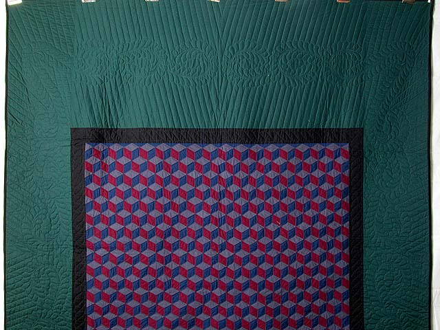 Amish Tumbling Blocks Quilt Photo 2