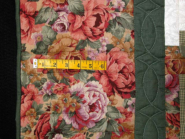 Sage and Pressed Flowers Log Cabin Star Quilt Photo 6