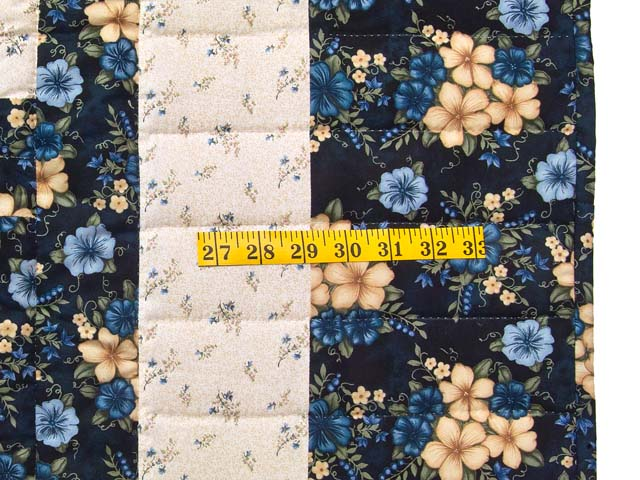 Navy Blue and Cream Lone Star Log Cabin Quilt Photo 6