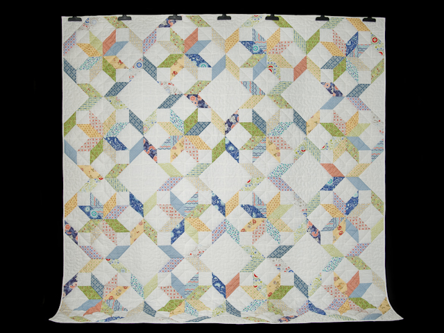 FRESH plus Pillow Shams -blues/yellows/greens Queen Size Bed Quilt Photo 2
