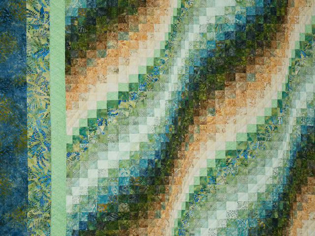 Tropical Gardens-greens/blues/earthtones