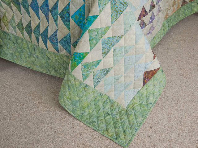 Rainbow Pyramid - Queen Size Bed Quilt Photo 7