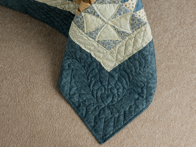 Winding Ways - King Size Vintage Blues and Browns and Creams Photo 7