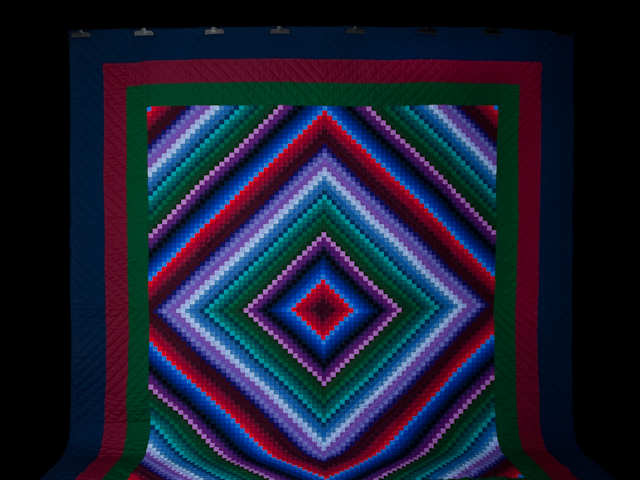 """Postage Stamp Amish King Size - wool batting,  36 solid colors make with  1"""" squares Photo 2"""