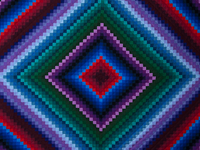 """Postage Stamp Amish King Size - wool batting,  36 solid colors make with  1"""" squares Photo 3"""