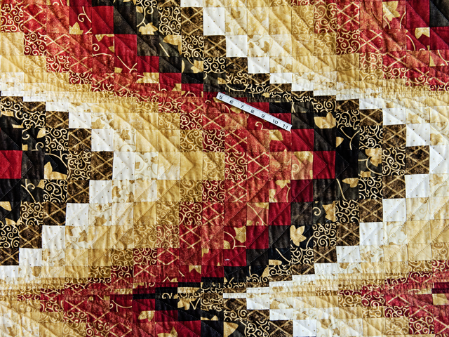 King Brick, Gold and Black Bargello Photo 4