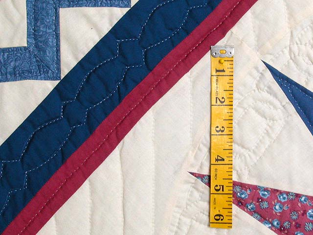 Blue and Rose Mariners Medallion Quilt Photo 5