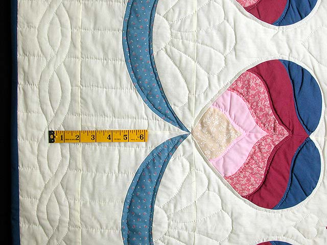 Blue and Rose Mariners Medallion Quilt Photo 6