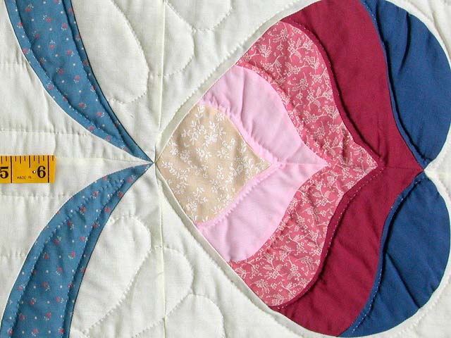 Blue and Rose Mariners Medallion Quilt Photo 7