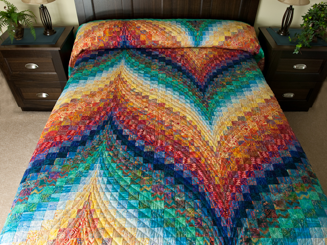 Bargello Flame - Brilliant! Queen Bed Size Photo 1