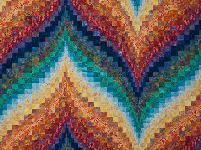 Bargello Flame - Brilliant! Queen Bed Size Photo 2