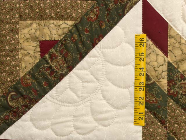 Earthtones Lone Star Log Cabin Quilt Photo 5