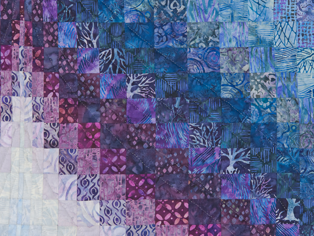 Bargello Flame Batik style fabrics  King size bed Photo 4
